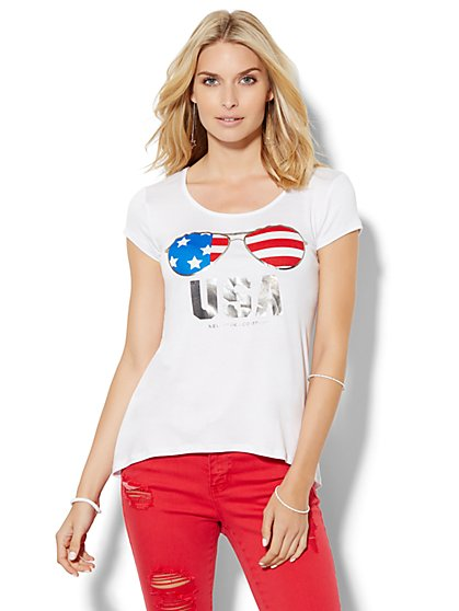 USA Aviator Graphic Tee  - New York & Company