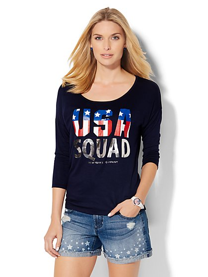 USA Squad Graphic Tee  - New York & Company