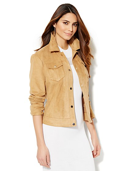 Ultra-Suede Jacket  - New York & Company