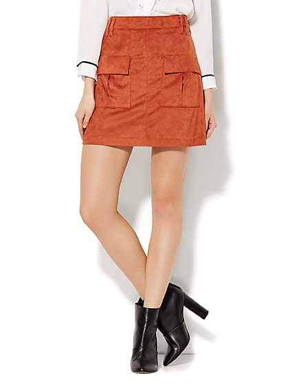 Ultra-Suede Mini Skirt  - New York & Company