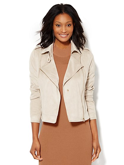 Ultra-Suede Moto Jacket  - New York & Company