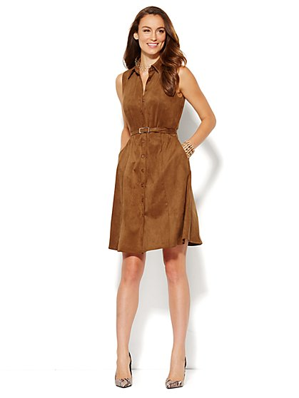 Ultra-Suede Shirtdress  - New York & Company