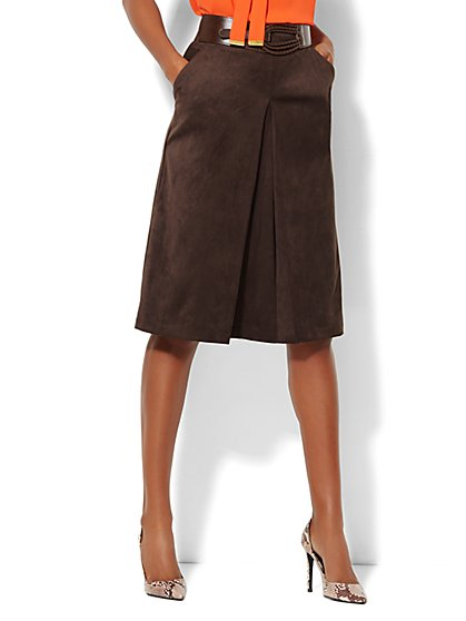 Ultra-Suede Skirt  - New York & Company