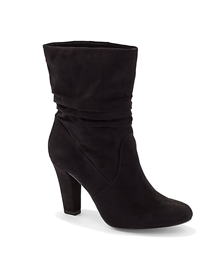 Ultra-Suede Slouch Bootie  - New York & Company