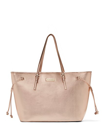 Union Square Collection - Faux-Leather Pull-String Tote  - New York & Company