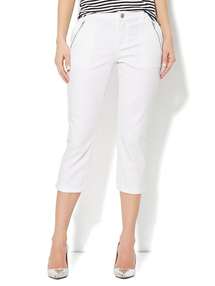 Utility Denim Crop - Optic White - New York & Company