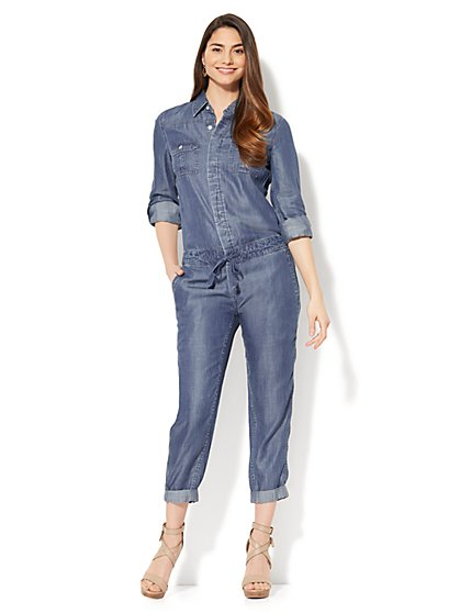 Utility Jumpsuit - Ultra-Soft Chambray - New York & Company