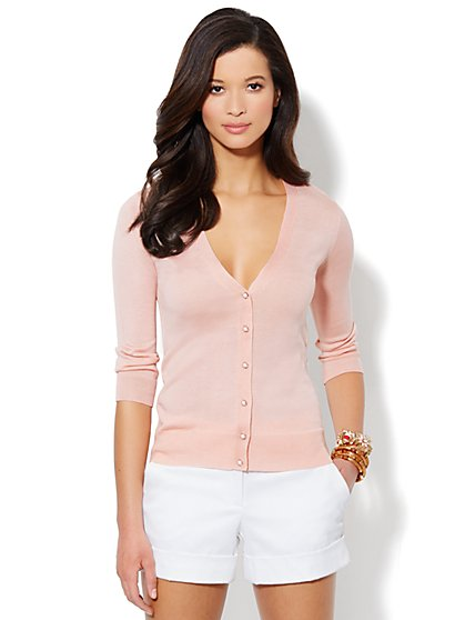 V-Neck Essential Cardigan