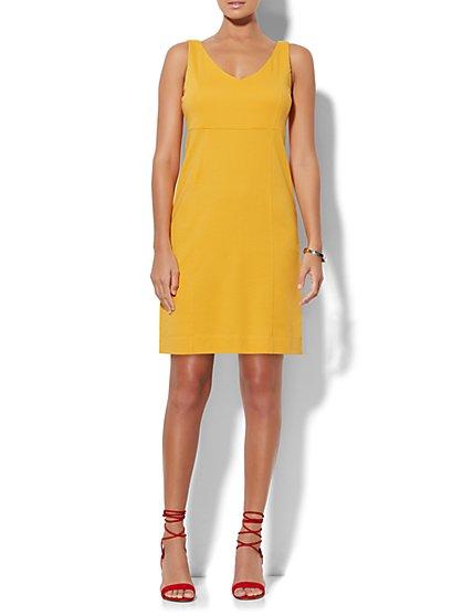 V-Neck Flare Dress  - New York & Company