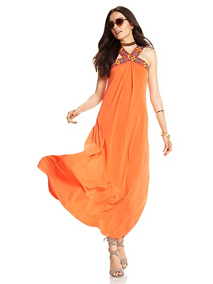 V-Neck Maxi Dress - New York & Company