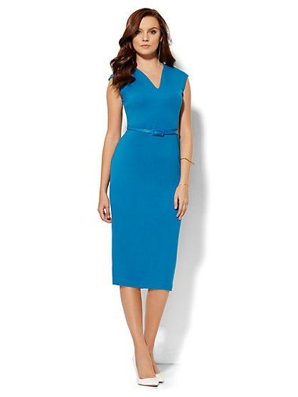 V-Neck Midi Dress - New York & Company