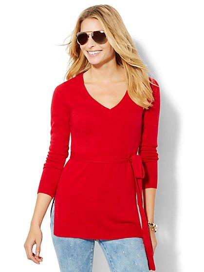 V-Neck Sweater Tunic - New York & Company
