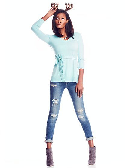 V-Neck Sweater Tunic - New York & Company