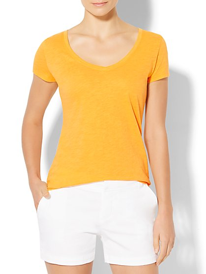 V-Neck T-Shirt  - New York & Company