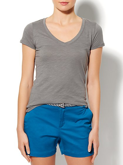V-Neck T-Shirt  - New York & Company