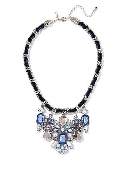 Velvet-Trim Statement Necklace  - New York & Company