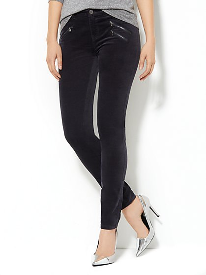 Velveteen Zip-Pocket Legging  - New York & Company