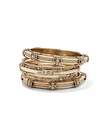 Vintage-Style Bangle Set  - New York & Company