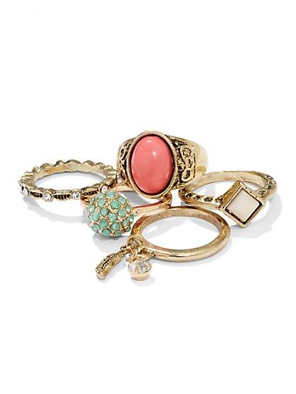 Vintage-Style Ring Set  - New York & Company