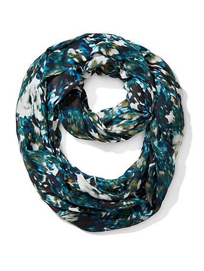 Watercolor Brushstroke Infinity Scarf - New York & Company