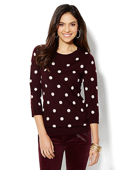 Waverly Crewneck Sweater - Lurex Dots - New York & Company