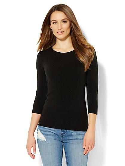 Waverly Rolled Crewneck Sweater  - New York & Company