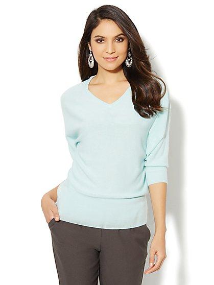 Waverly V-Neck Dolman Sweater  - New York & Company