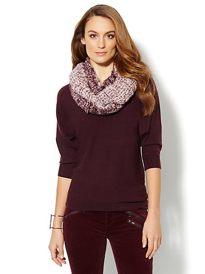 Waverly V-Neck Dolman Sweater  - New York & Company