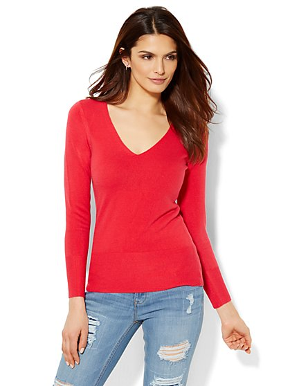 Waverly V-Neck Sweater  - New York & Company
