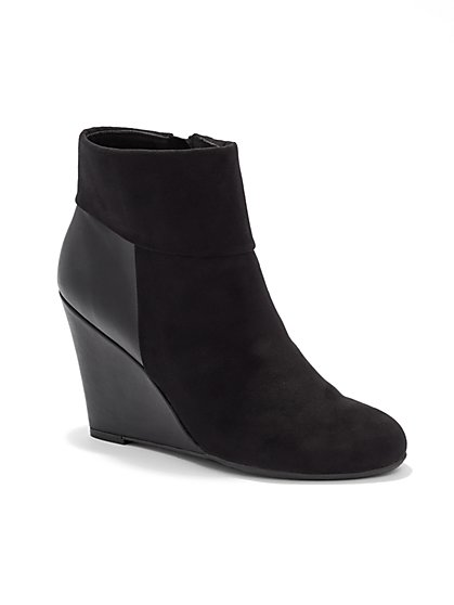 Wedge-Heel Bootie  - New York & Company