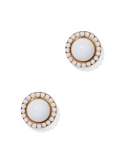 White Beaded Earring  - New York & Company