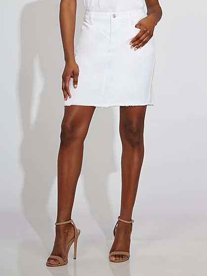 White Denim Skirt - Gabrielle Union Collection - New York & Company