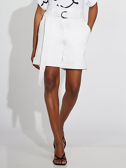 White Faux-Leather Short - Gabrielle Union Collection - New York & Company
