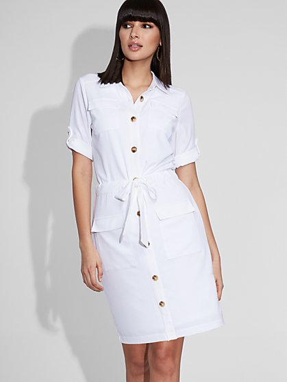 White Shirtdress - Gabrielle Union Collection - New York & Company
