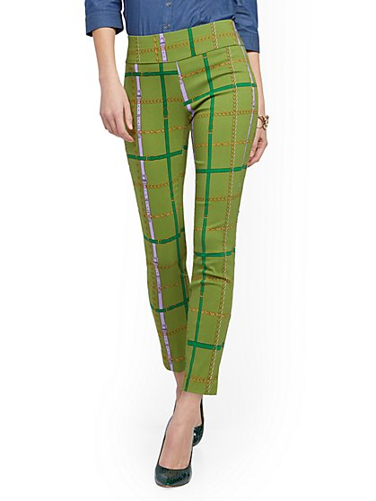 Whitney High-Waisted Pull-On Ankle Pant - Link Print - New York & Company