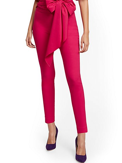 Whitney High-Waisted Pull-On Slim-Leg Pant - New York & Company