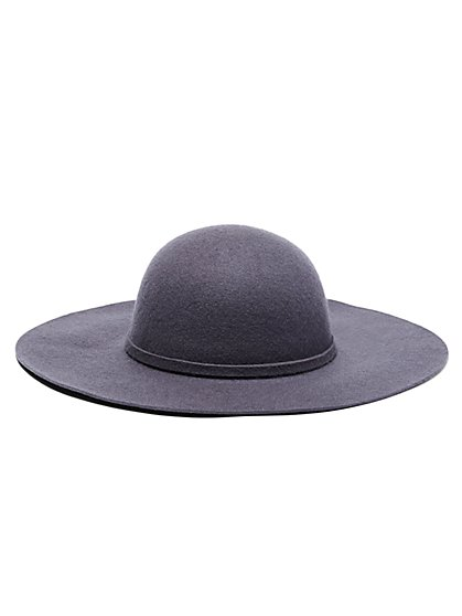 Wide-Brim Wool Hat  - New York & Company
