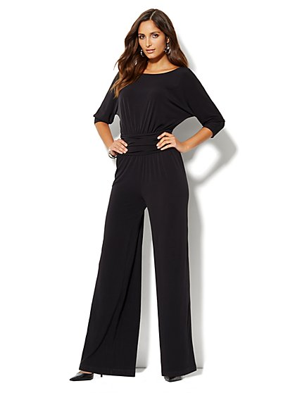 Wide Leg Dolman Jumpsuit - New York & Company