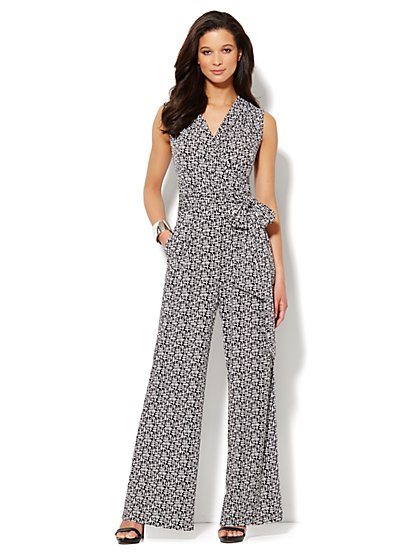 Wide-Leg Geo Soft Jumpsuit