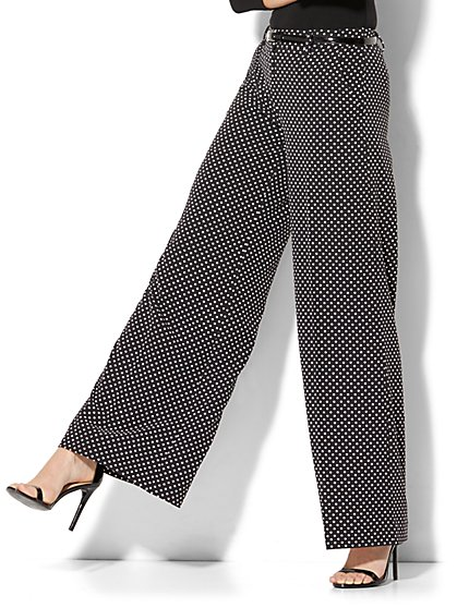 Wide-Leg Pant - Polka-Dot Print - New York & Company