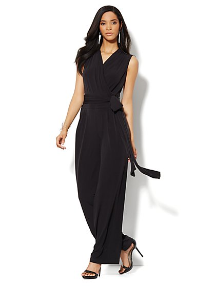 Wide-Leg Wrap Jumpsuit