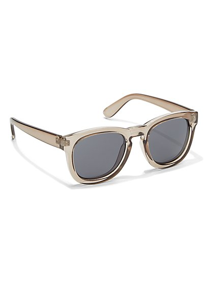 Wide Square-Frame Sunglasses  - New York & Company