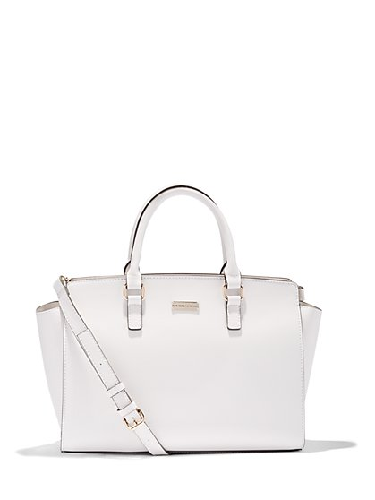 Winged Faux-Leather Tote Bag  - New York & Company