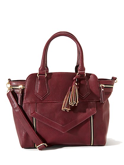 Winged Faux-Leather Tote - New York & Company