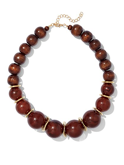 Wooden Beaded Necklace  - New York & Company