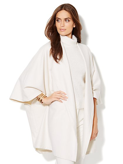 Wool-Blend Blanket Coat - New York & Company
