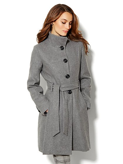 Wool-Blend Flare Coat - New York & Company