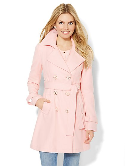 Wool-Blend NY Trench Coat - New York & Company