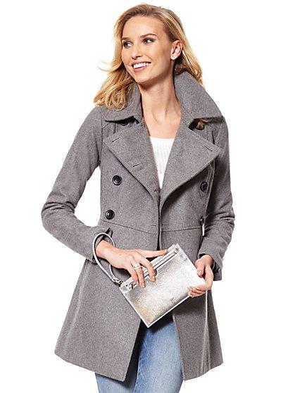 Wool-Blend Peacoat - New York & Company