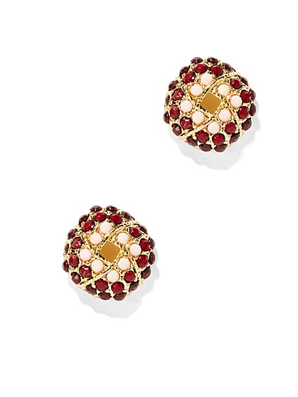 Woven Beaded Post Earring  - New York & Company